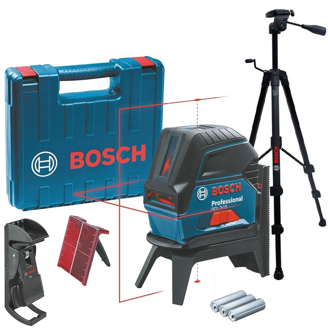 Nível Laser Vermelho 15m GCL 2-15 + Tripé BT 150 Bosch Professional