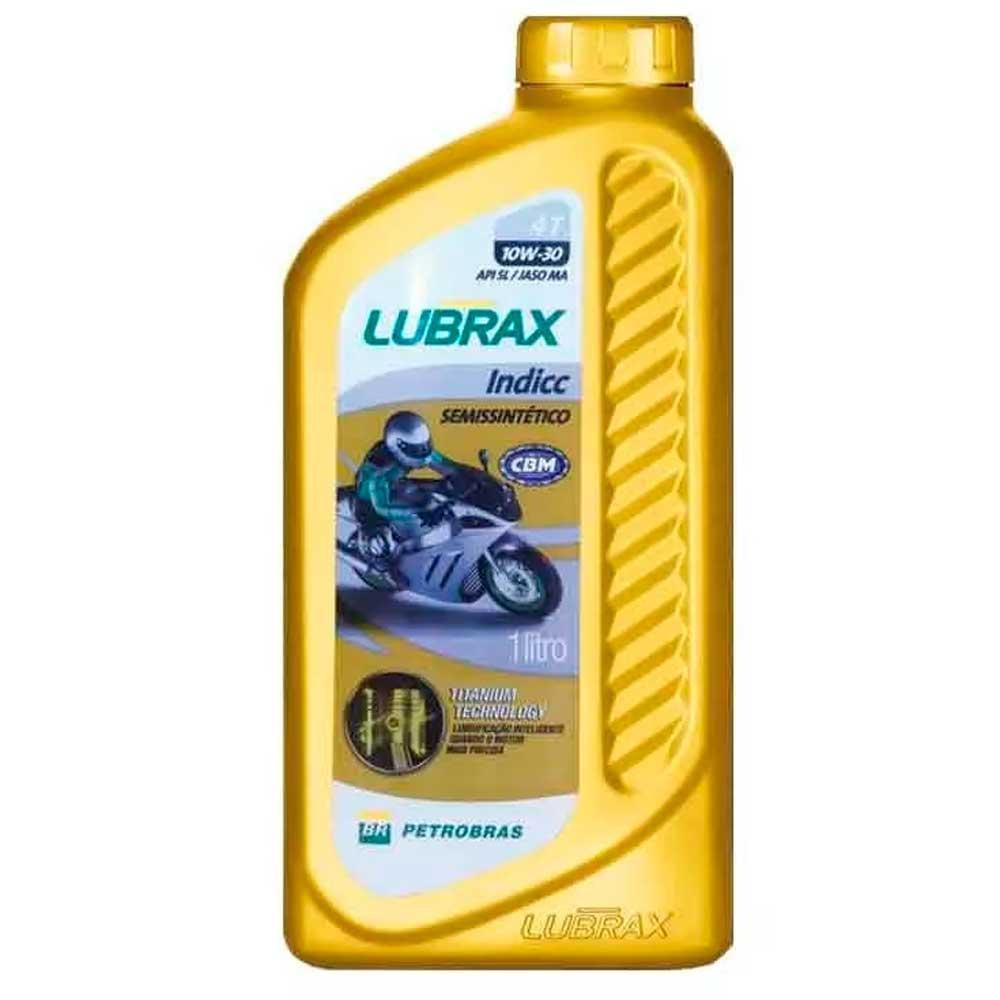 Óleo Lubrax Indicc Semissintético 4t 10w30 Sl 1 LT -Lubrax