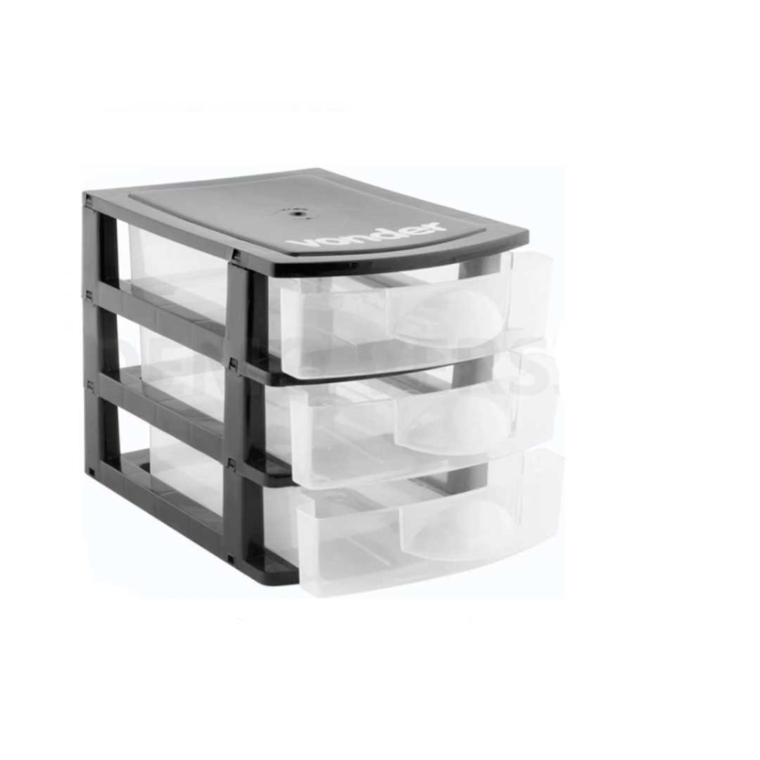 Organizador Plastico 3 Gavetas Vonder - 61 07 001 300