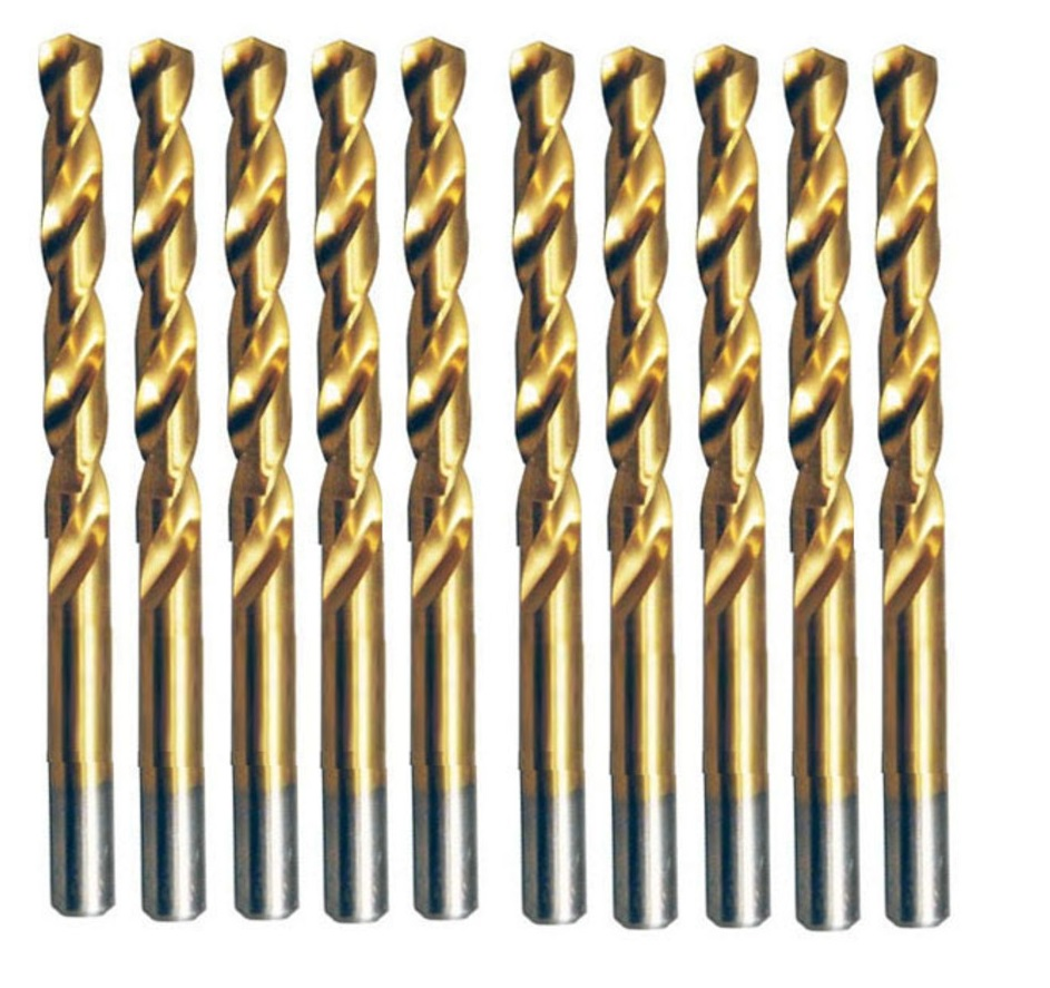 Pacote 10 Pcs Broca De Aco Rapido HSS-TIN 3,5mm Makita D-64303
