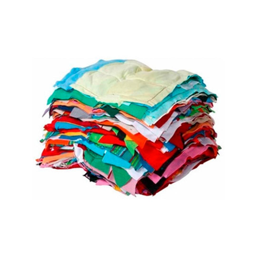 Pacote 20 Kgs Estopa Malha Colorida Costurada