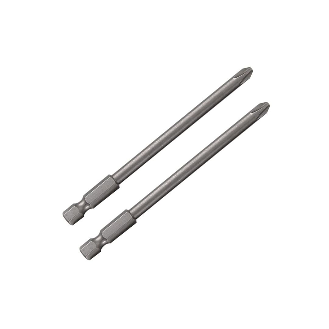 Pacote c/ 2 Pcs Bits Phillips 100mm PH3 Longo Makita - 111-0025