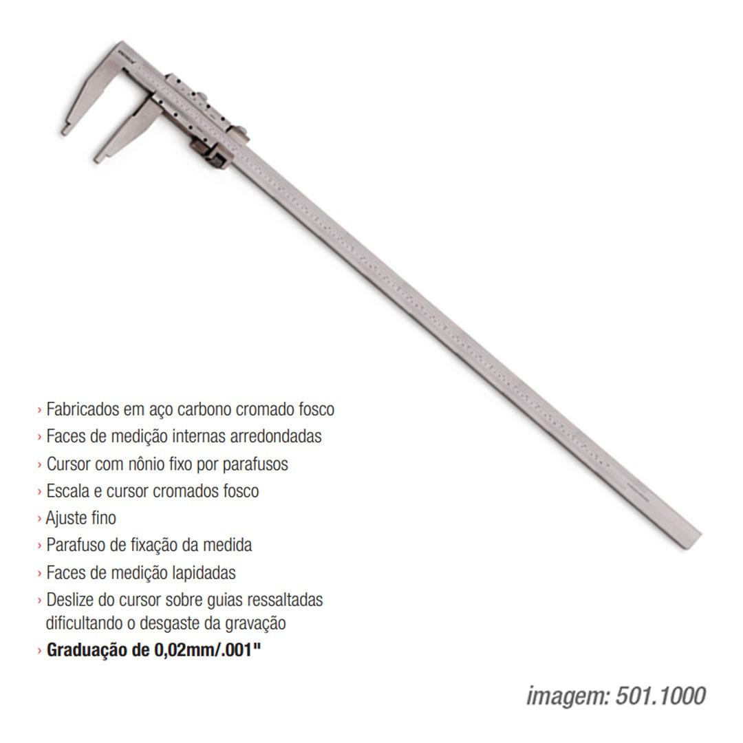 Paquímetro Serviço Pesado KINGTOOLS 1000mm Bico 150mm - 501.1000