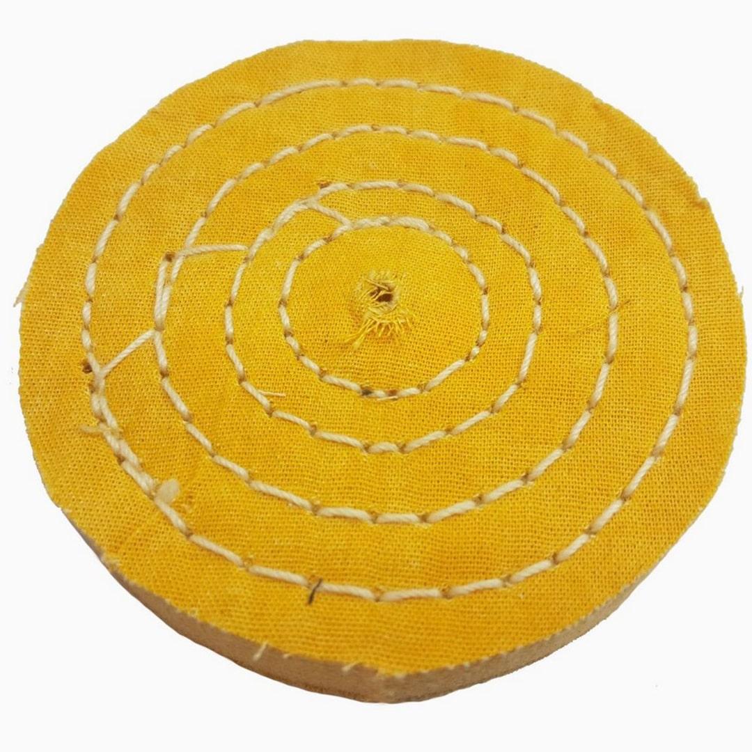 Polia De Pano Amarela Algodao Resinado 150mm - 050125
