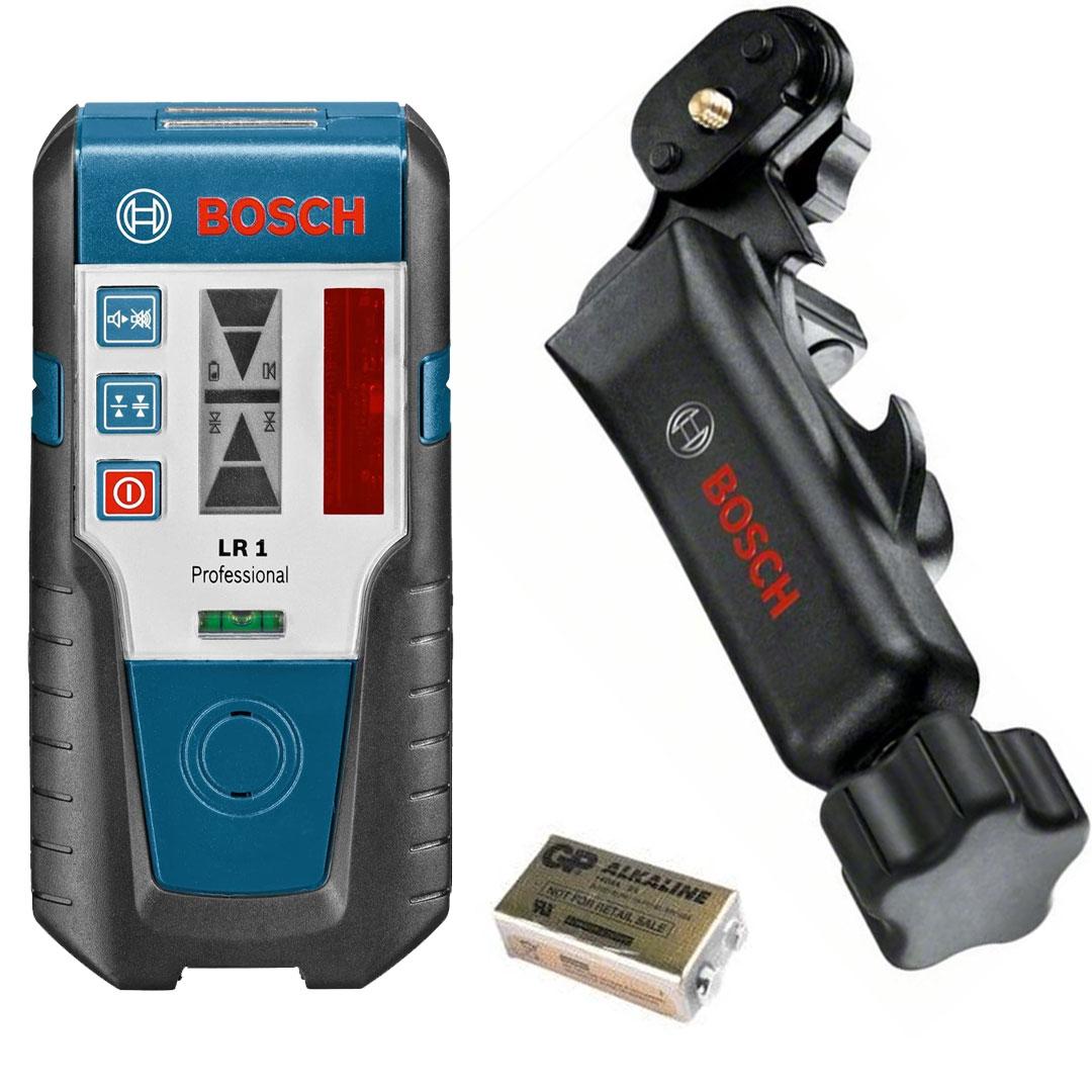 Receptor Laser LR1 para Níveis Rotativos com Suporte BOSCH  0601015400