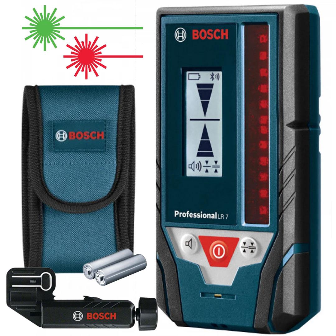 Receptor Laser ( Verde / Vermelho) para Nível BOSCH LR7 0601069J00