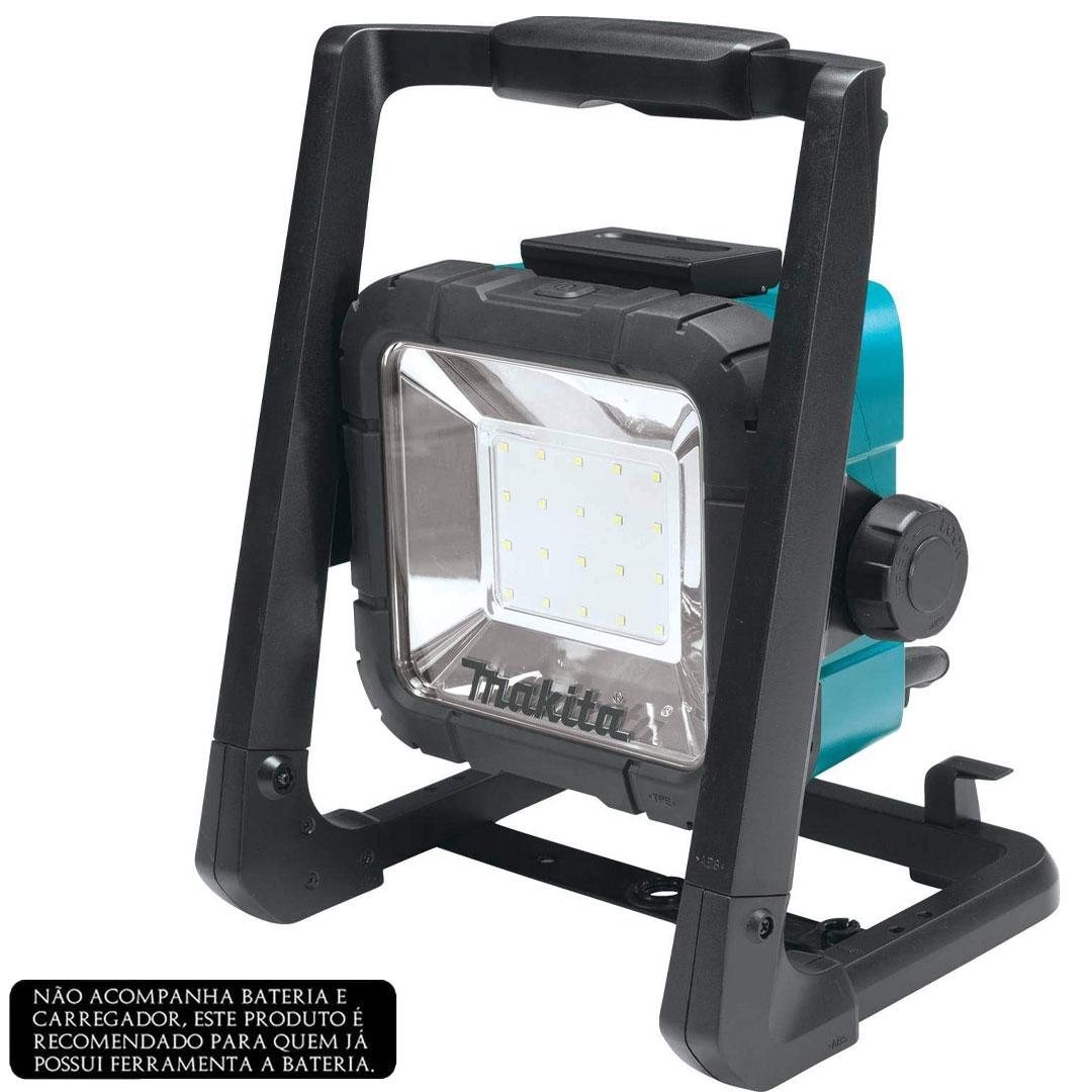 Refletor (Lanterna) de Iluminação Led 18V Bateria/ Elétrico MAKITA DML805
