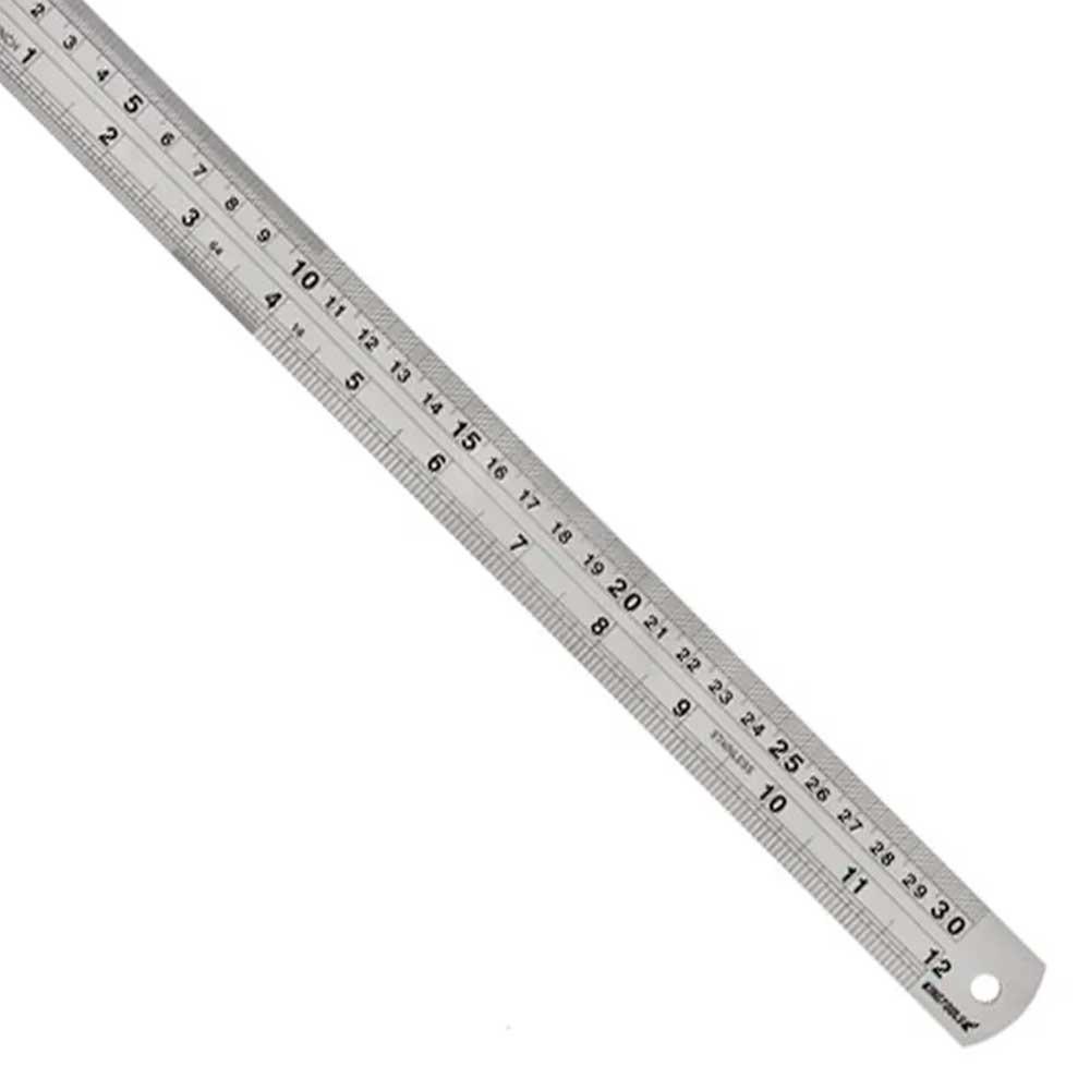 Régua/Escala De Aço Inoxidável 1500mm 600.008 Kingtools - Graduação mm/in