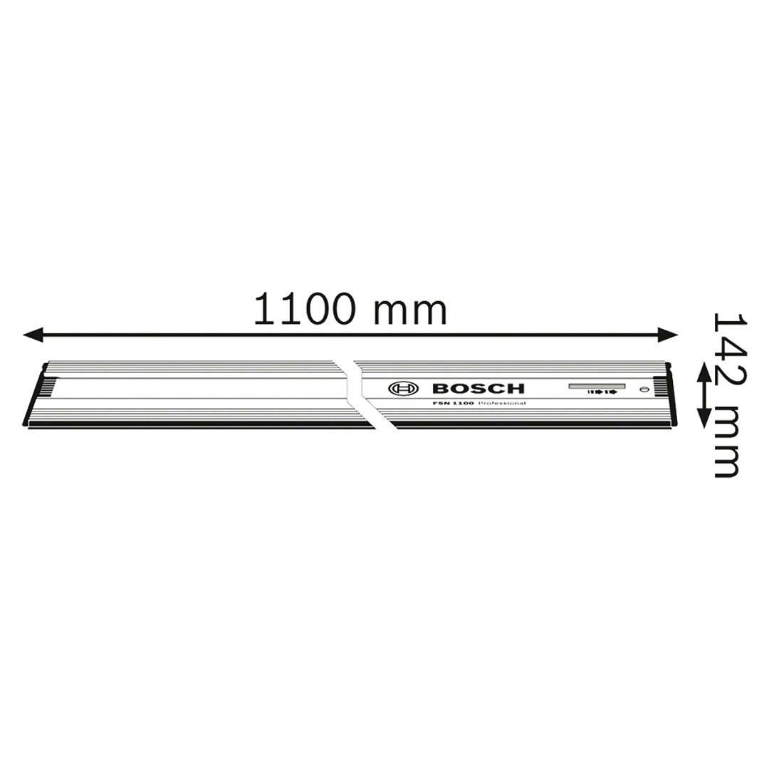 Régua Trilho Guia 1100mm FSN 1100 BOSCH para Serra Circular 1600Z00006
