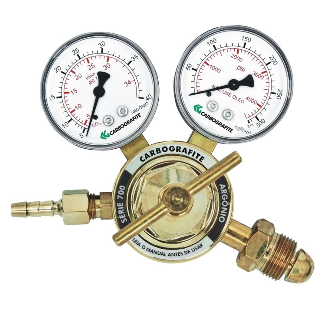 Regulador de Pressão Argônio Cilindro Série 700 CARBOGRAFITE 010453710
