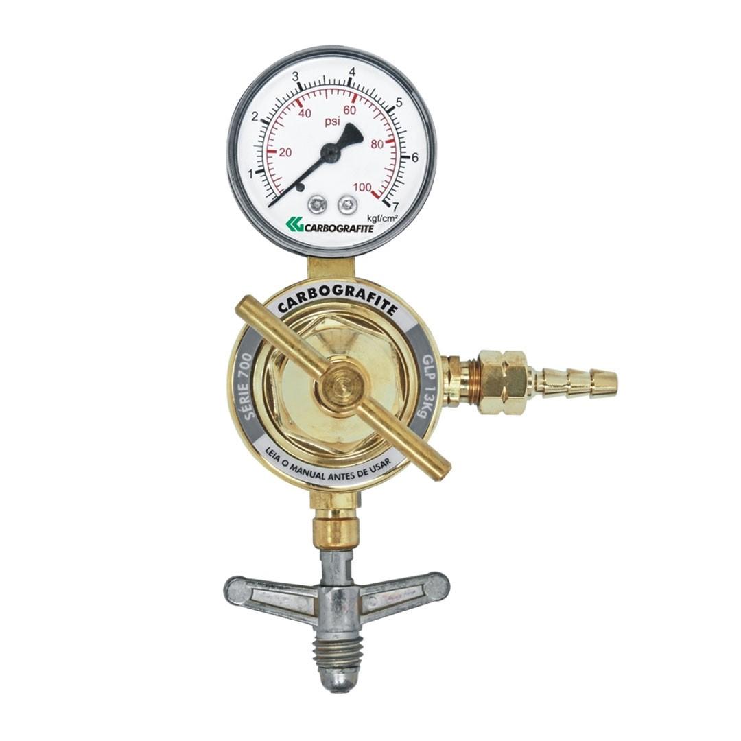 Regulador de Pressão GLP 13Kg Cilindro Série 700 CARBOGRAFITE 010454110