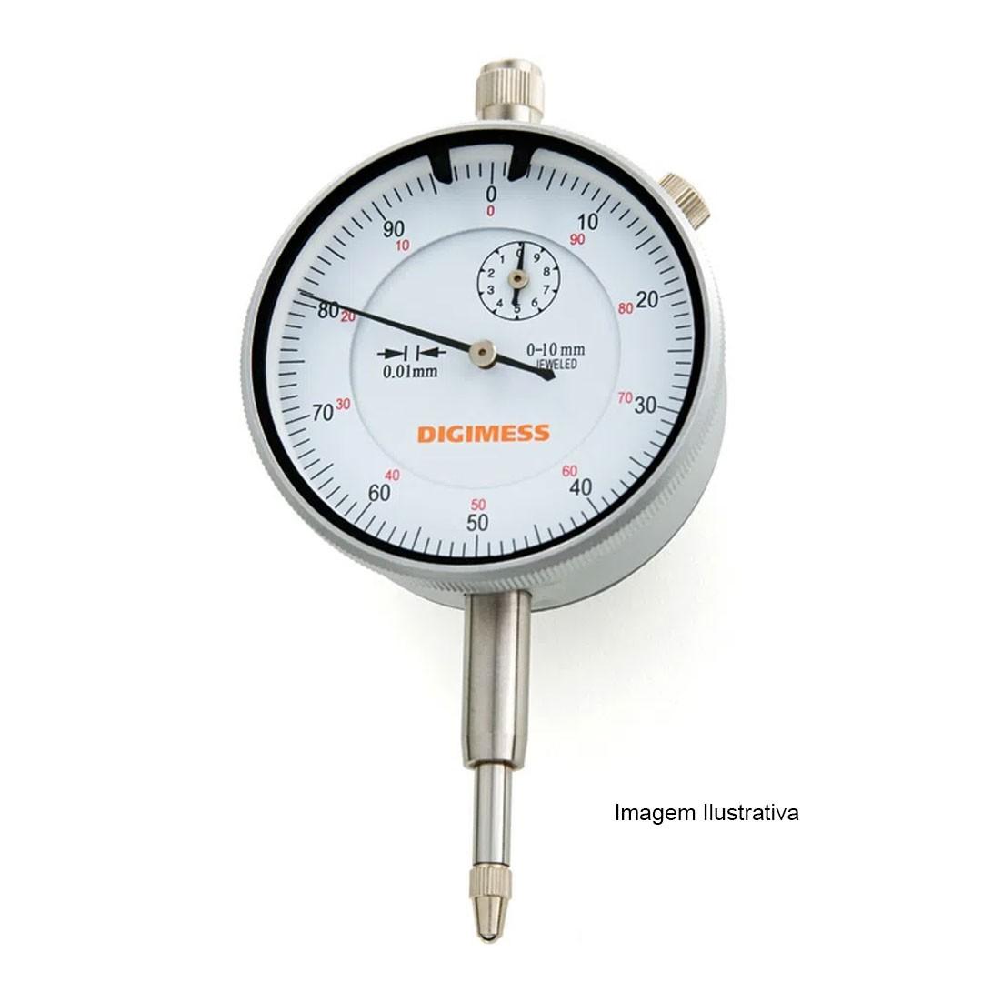 Relógio Comparador Analógico de 0.01mm Capacidade 0 – 5mm DIGIMESS - 121.300