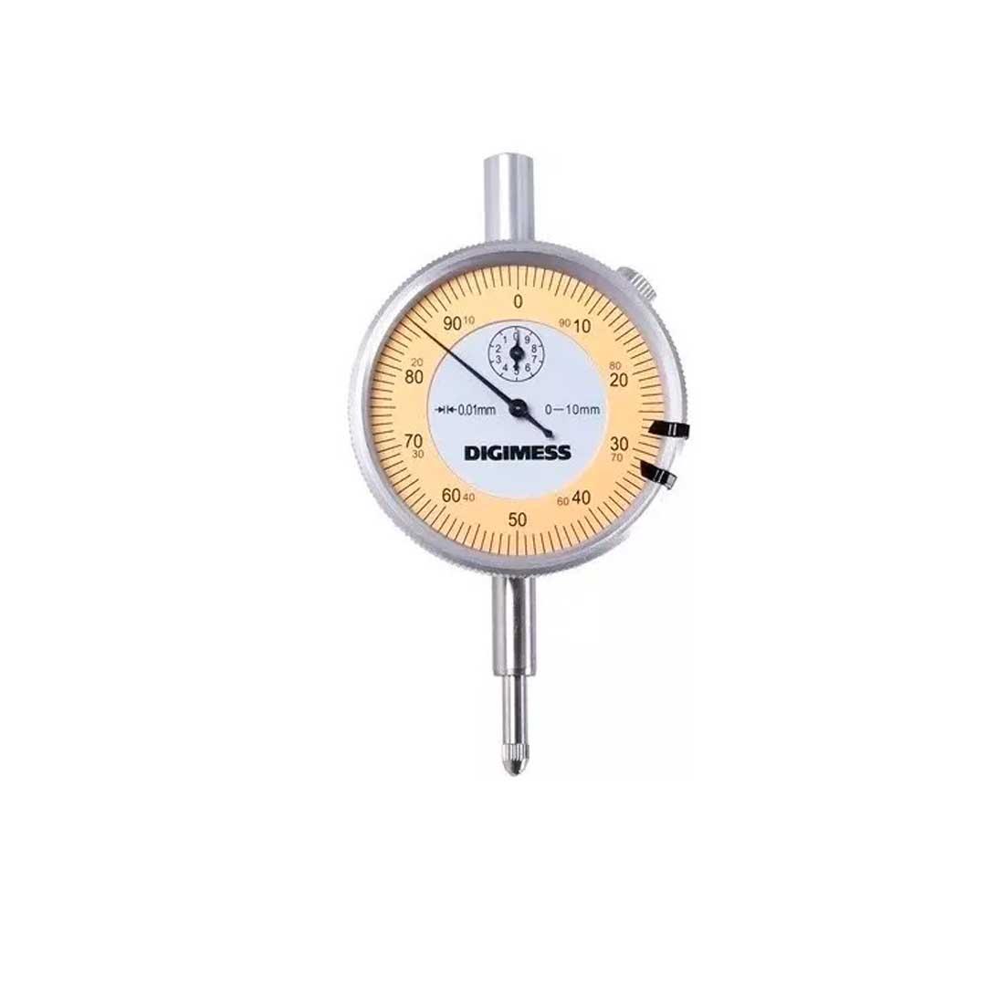 Relógios Comparador Tampa Traseira Com Orelha Capacidade 0-10mm Digimess 121.304 BASIC