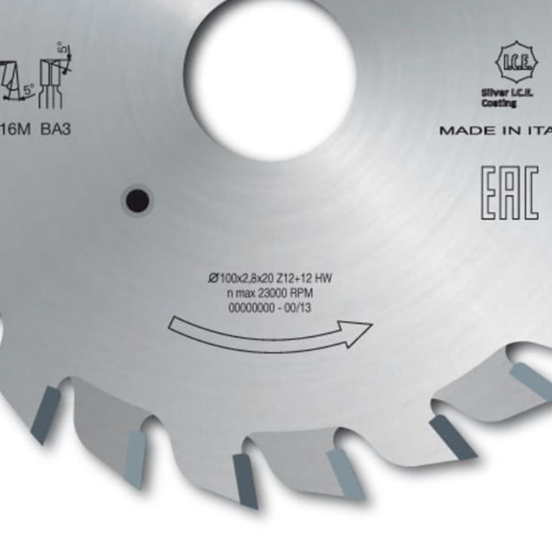 Riscador Duplo 120mm X 22 X 12D+12D LI16M-AB3 Freud F03FS02488