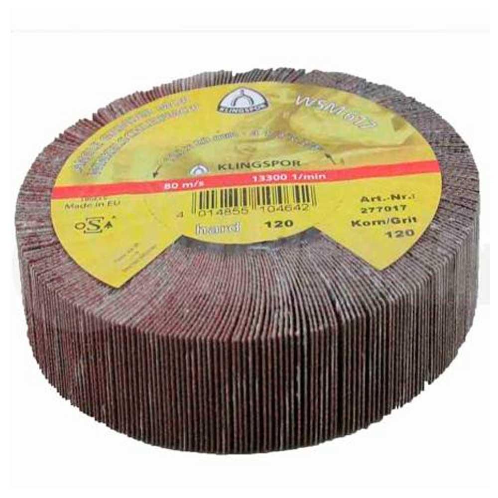 Roda de Lixa para Esmirilhadeira  115 X 20 MM Grão 320 WSM617 - KLINGSPOR