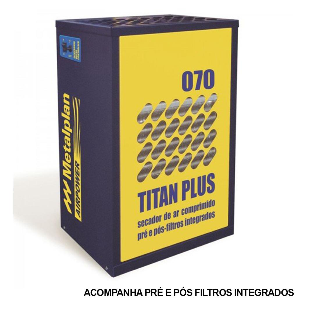 Secador De Ar Comprimido Titan Plus 70 Metalplan Mono 220v