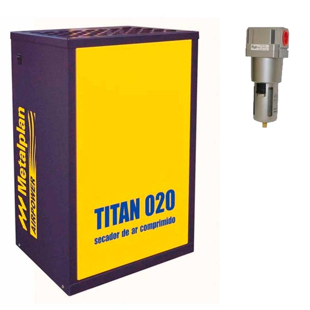 Secador de ar Titan 020 - 20 pcm 220V Monofásico - Metalplan c/ Filtro Completa