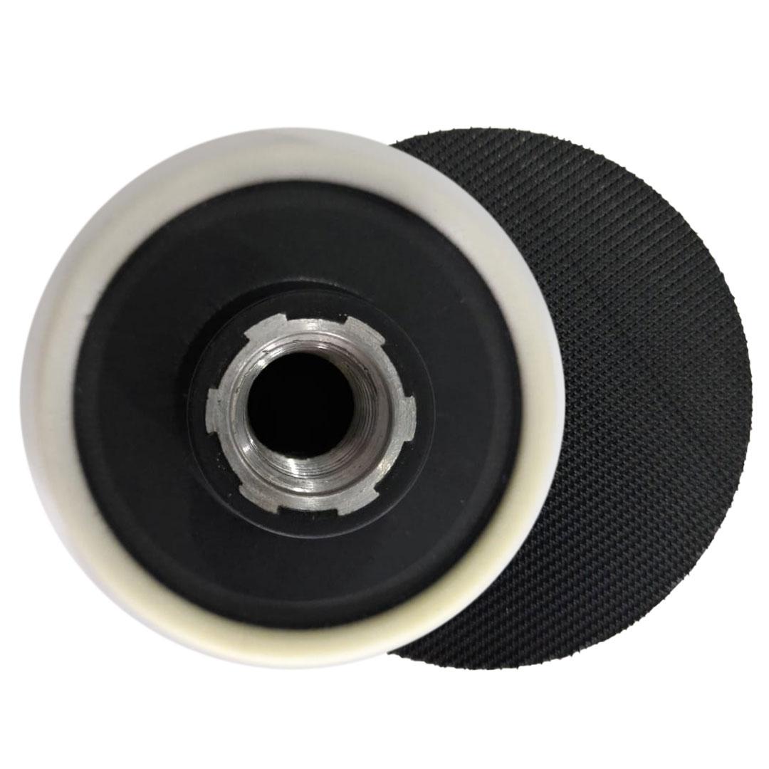 Suporte Disco Prato de Borracha Com Velcro Para Polimento 3