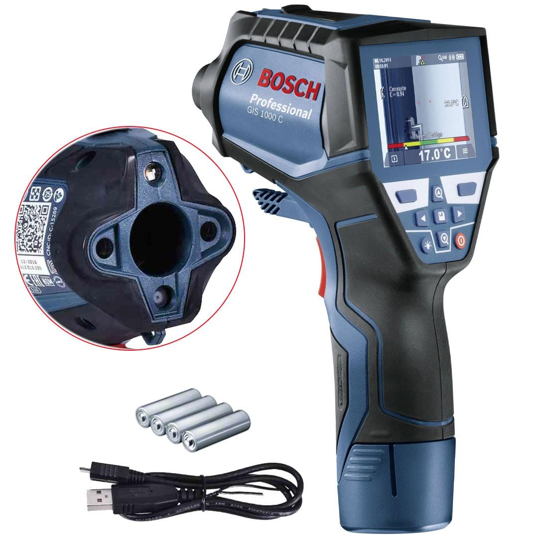 Detector Térmico Termômetro Infravermelho Digital BOSCH GIS 1000 C com Câmera Inspeção 0601083300