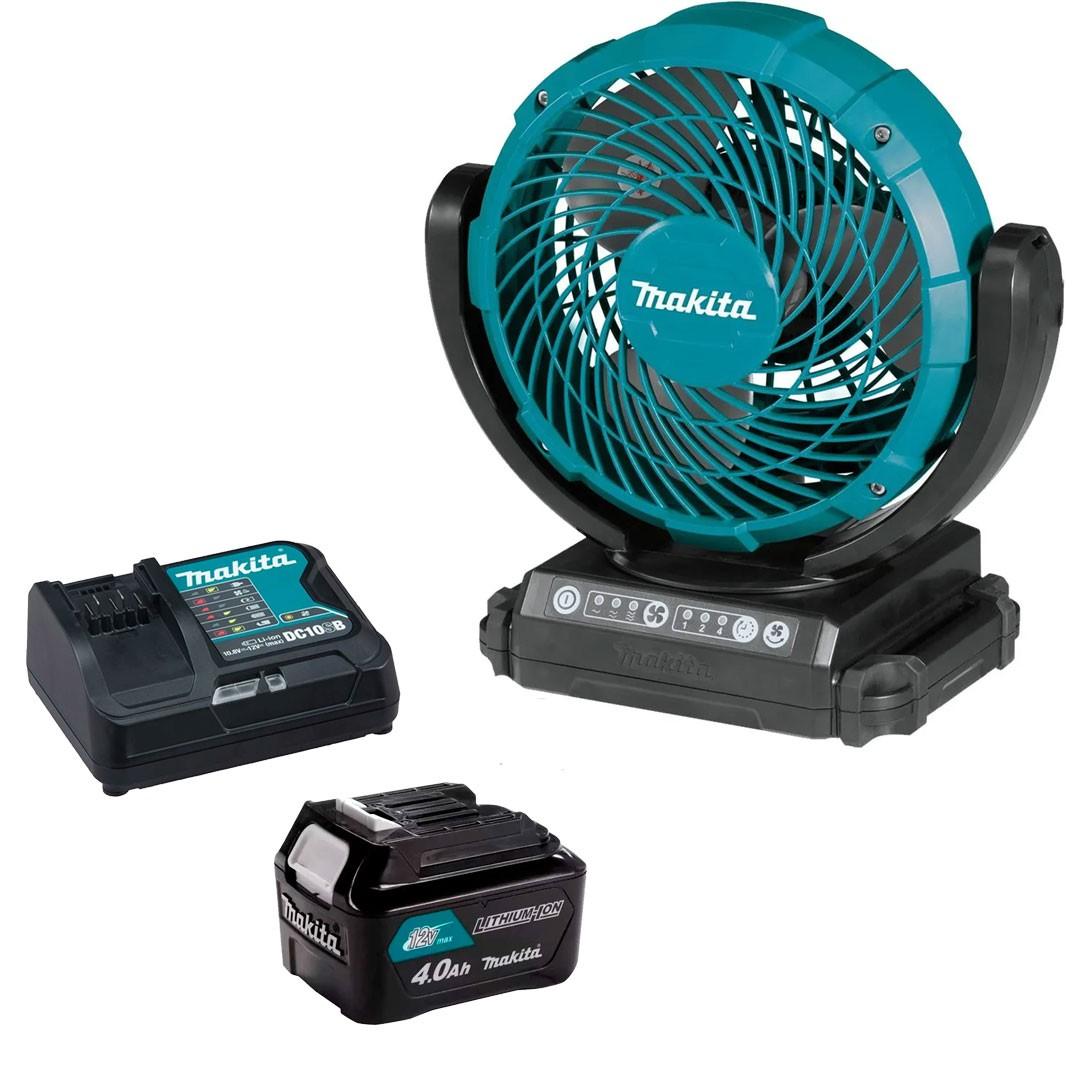 Ventilador A Bateria 12V CXT CF101DZ + Bateria 4AH BL1040 + Carregador 12V Máx DC10SB - Makita