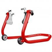 Cavalete Dianteiro Para Moto Evolution Racing Com Regulador de Bengala Vermelho