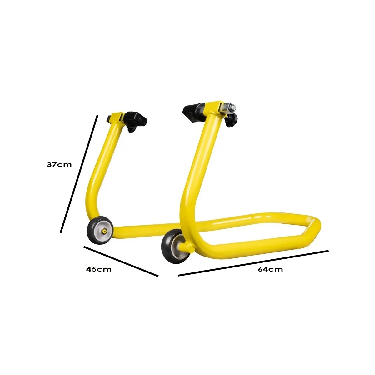 Cavalete Dianteiro Para Moto Evolution Racing Com Regulador de Bengala Amarelo