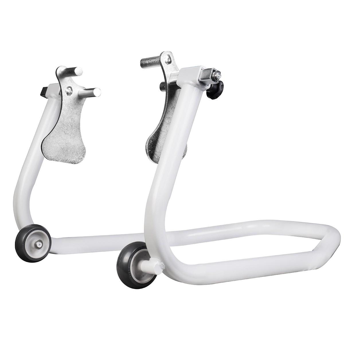 Cavalete Dianteiro Para Moto Evolution Racing Com Regulador de Bengala Branco