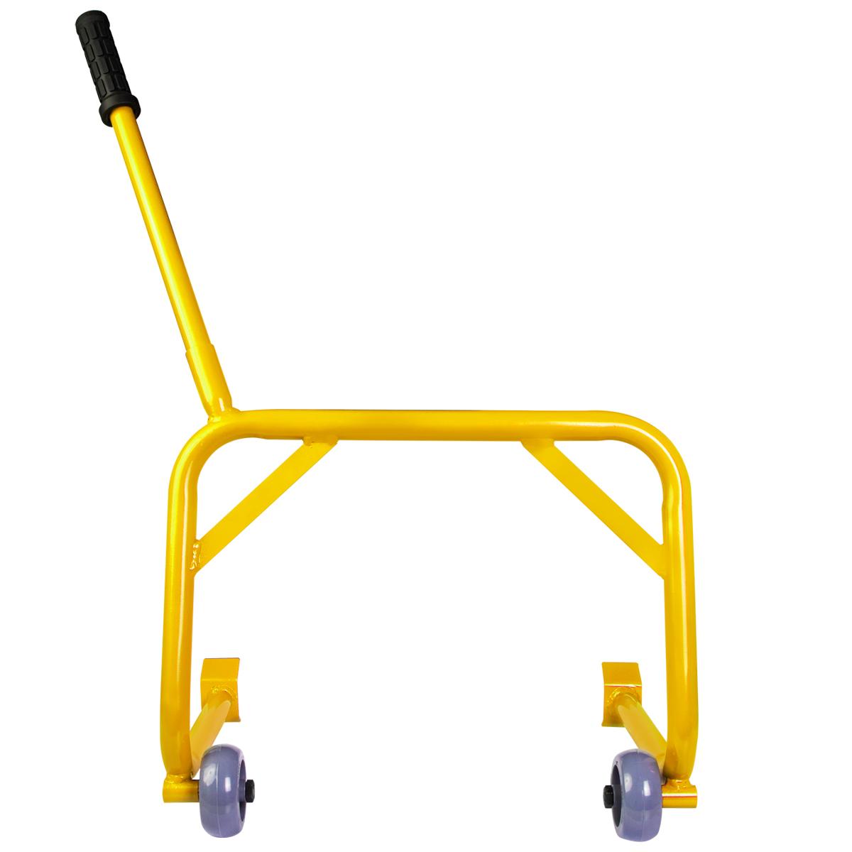 Cavalete Moto Universal Pedaleira Estribo Evolution Racing Amarelo