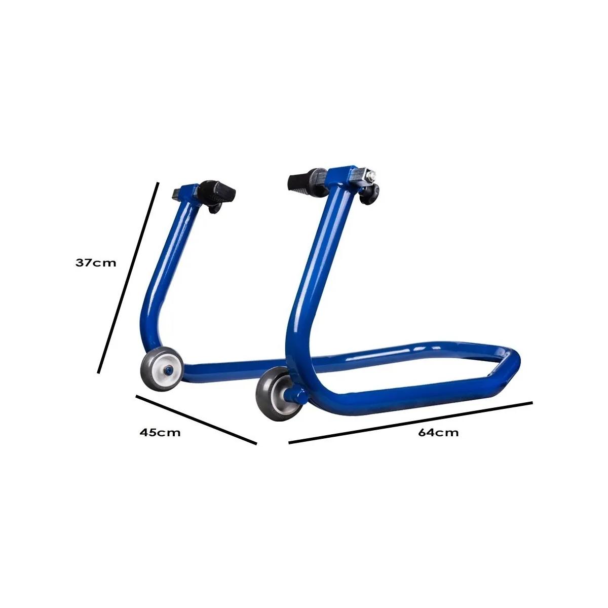 Cavalete Traseiro Evolution Universal Motos Com Ou Sem Slider Azul