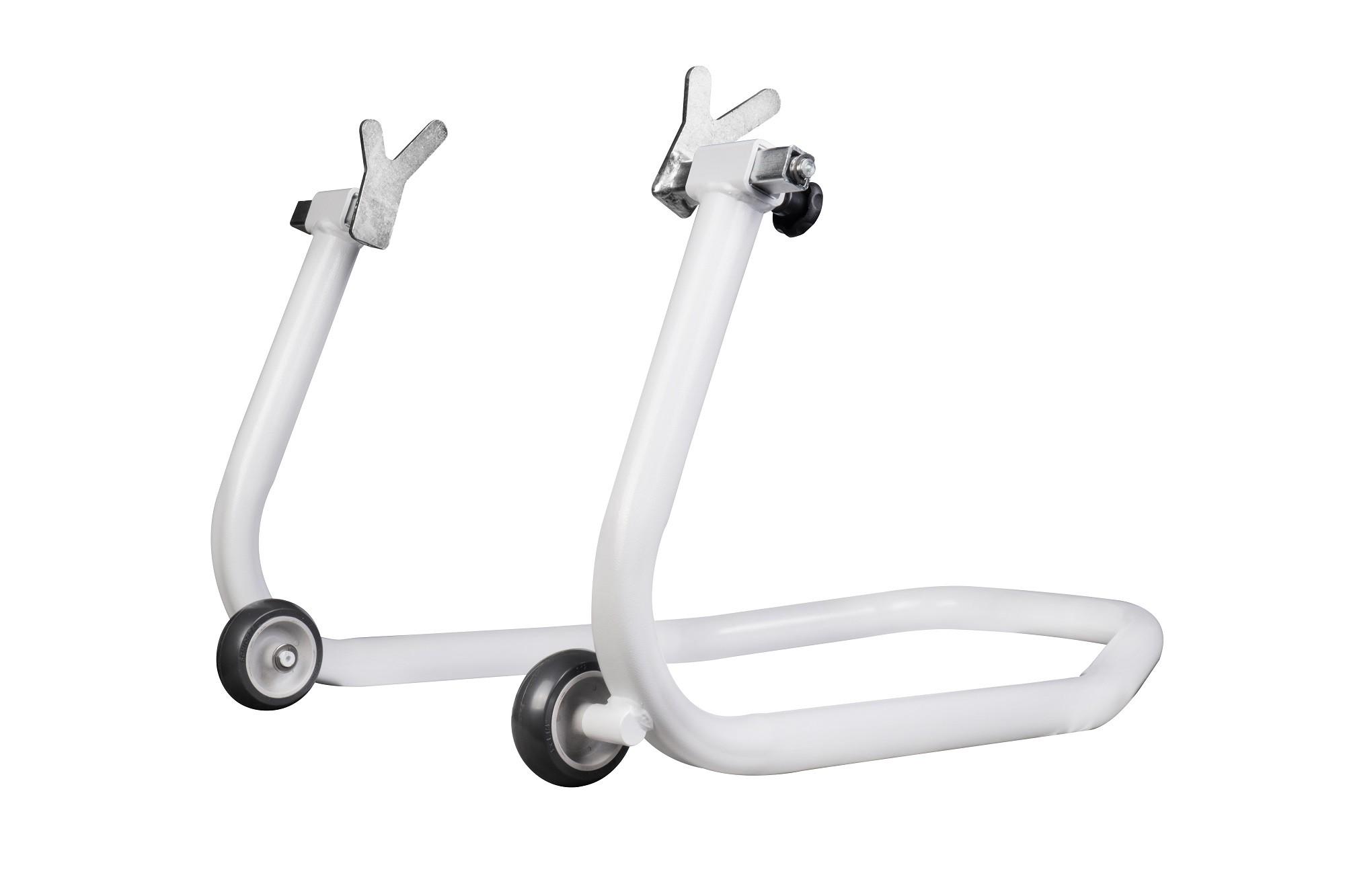 Cavalete Traseiro Evolution Universal Motos Com Ou Sem Slider Branco