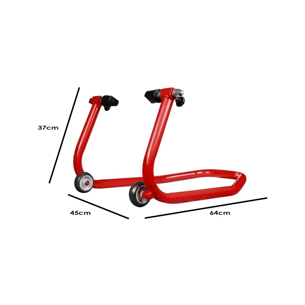 Cavalete Traseiro Evolution Universal Motos Com Ou Sem Slider Vermelho
