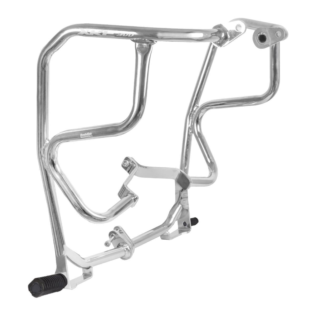 Protetor carenagem XRE 300 cromado com pedaleiras 17 18