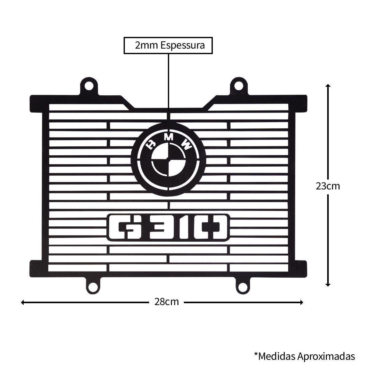 Protetor De Radiador Aço Carbono BMW G310gs  G 310 gs Todas
