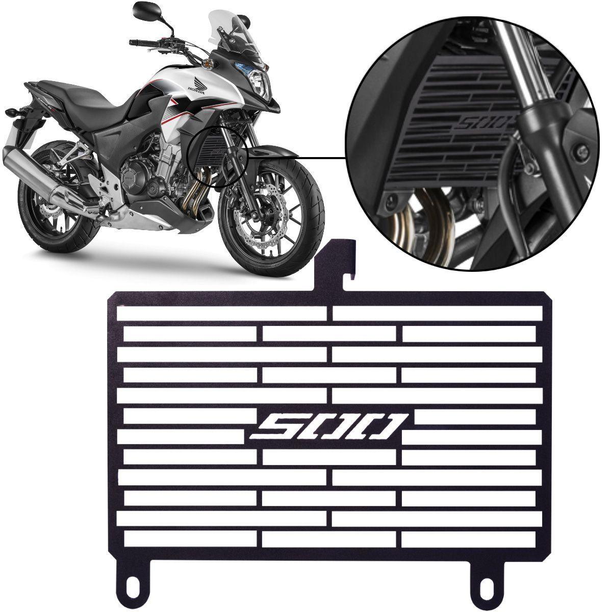 Protetor de Radiador Aço Carbono Honda CB500 X CB500X 2013 2017