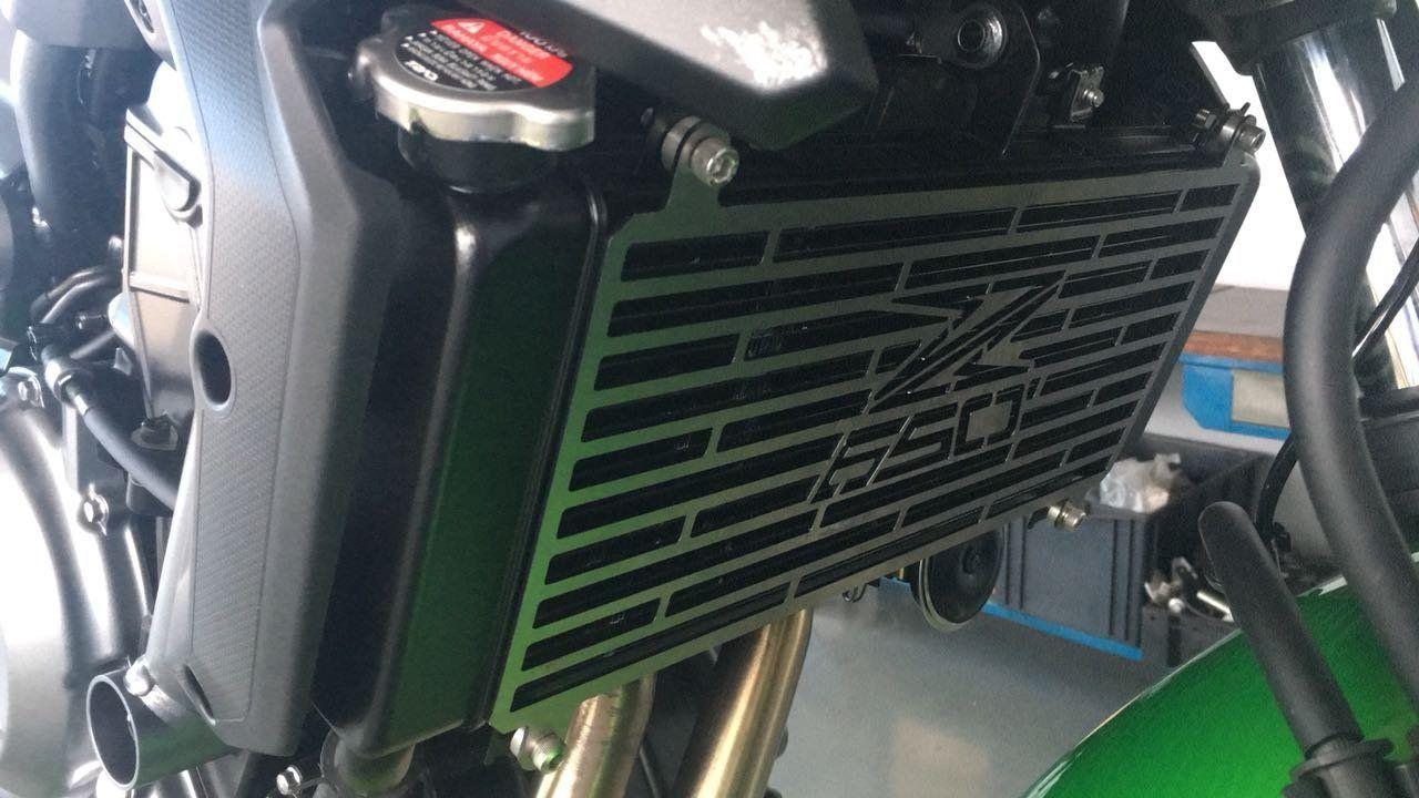 Protetor de Radiador Kawasaki Z650 Z 650 2017 2018 2019 2020 Aço Carbono