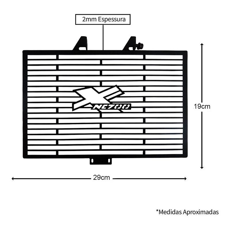 Protetor De Radiador Aço Carbono Nc700x Nc700 X 2013/2020