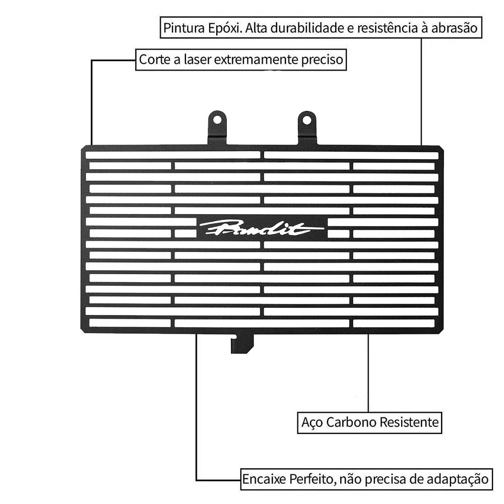 Protetor de Radiador Aço Carbono Suzuki Bandit 650 2008 2009 2010 2011 2012 2013 2014 2015 2016