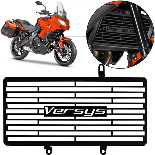 Protetor de Radiador Kawasaki  Versys 1000 2016 2017 2018 2019 2020 Aço Carbono
