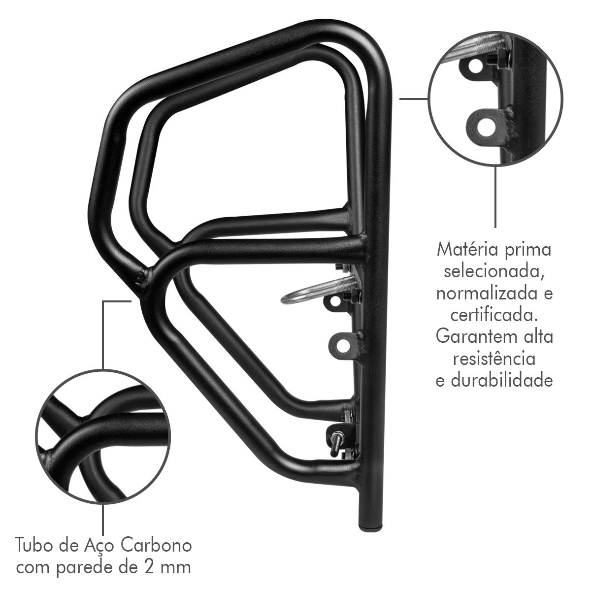 Protetor Motor Carenagem Mata Cachorro Universal CG 125 Titan Fan 150 160 Start Factor 150