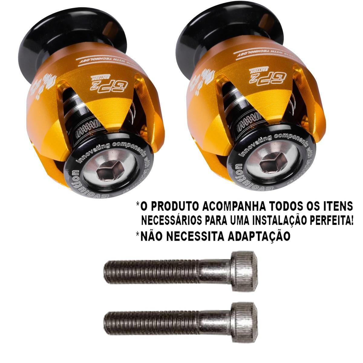 Slider traseiro ninja 300 2012 2013 2014 2015 2016 2017 balança kawasaki gp2 edition