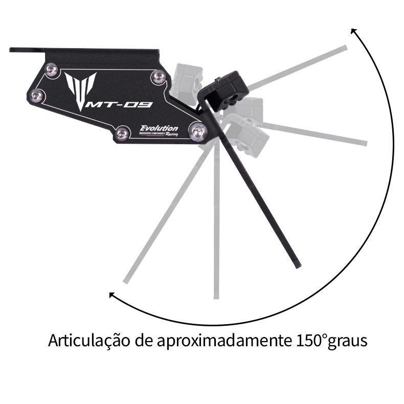 Suporte de Placa Eliminador de Rabeta Articulado MT09 MT 09