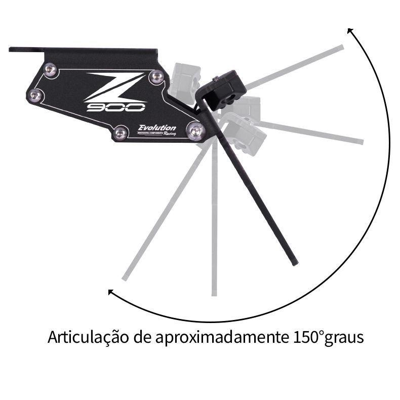 Suporte de Placa Eliminador de Rabeta Articulado Z900 Z 900 2018 2019 2020 2021