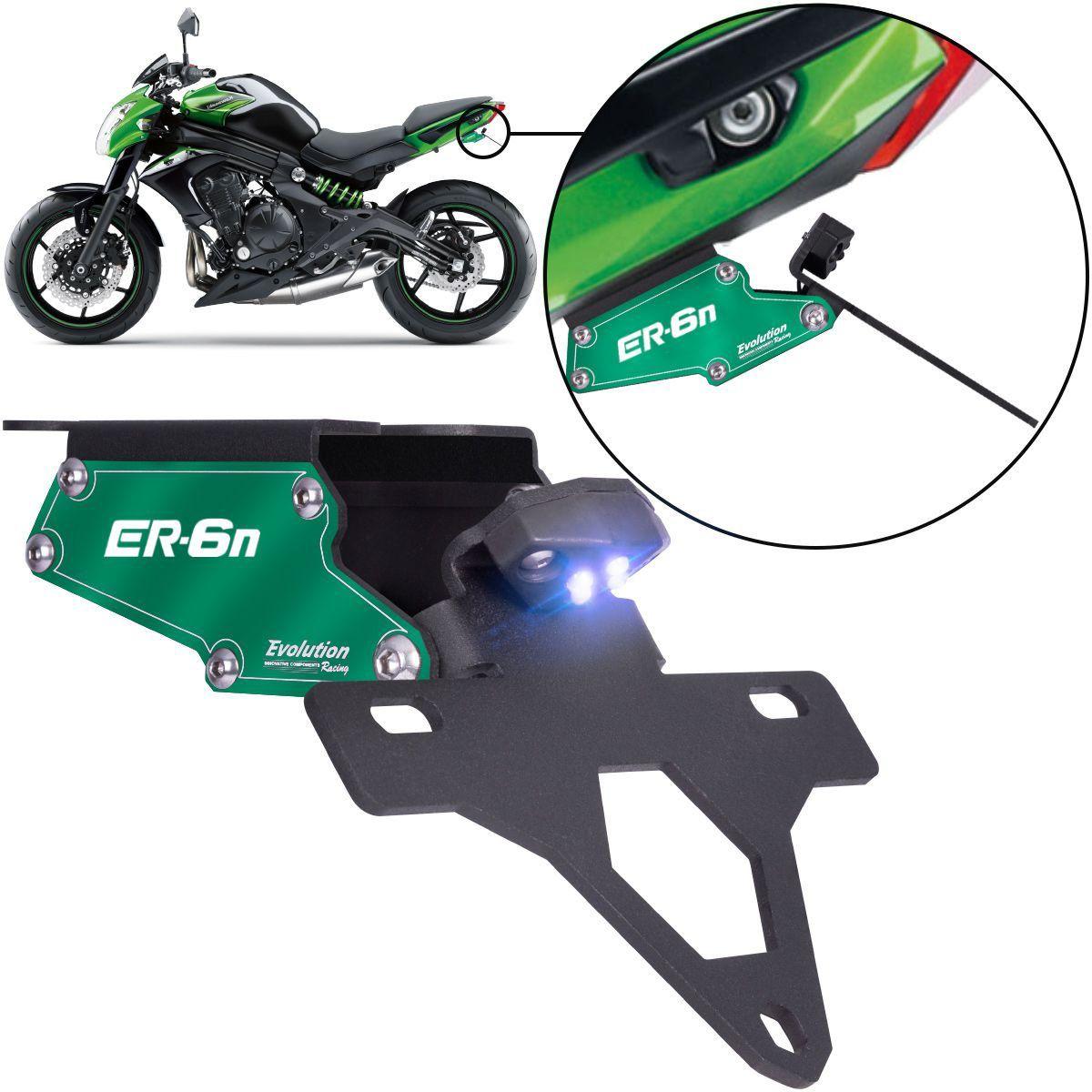 Suporte Eliminador De Rabeta Placa Kawasaki ER6 N 2012 2013 2014 2015 2016
