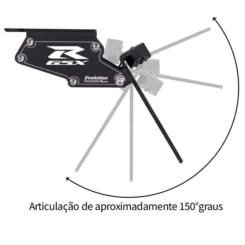 Suporte Eliminador De Rabeta Placa GSXR Srad 750 2014 2015 2016