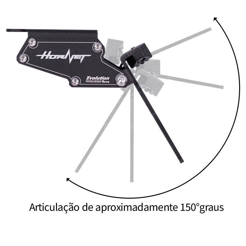 Suporte Eliminador De Rabeta Placa Honda Hornet 2012 2013 2014