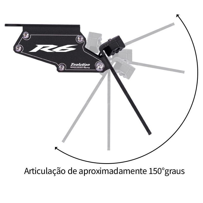 Suporte Eliminador De Rabeta Placa Yamaha YZF R6 2006 2007 2008 2009 2010