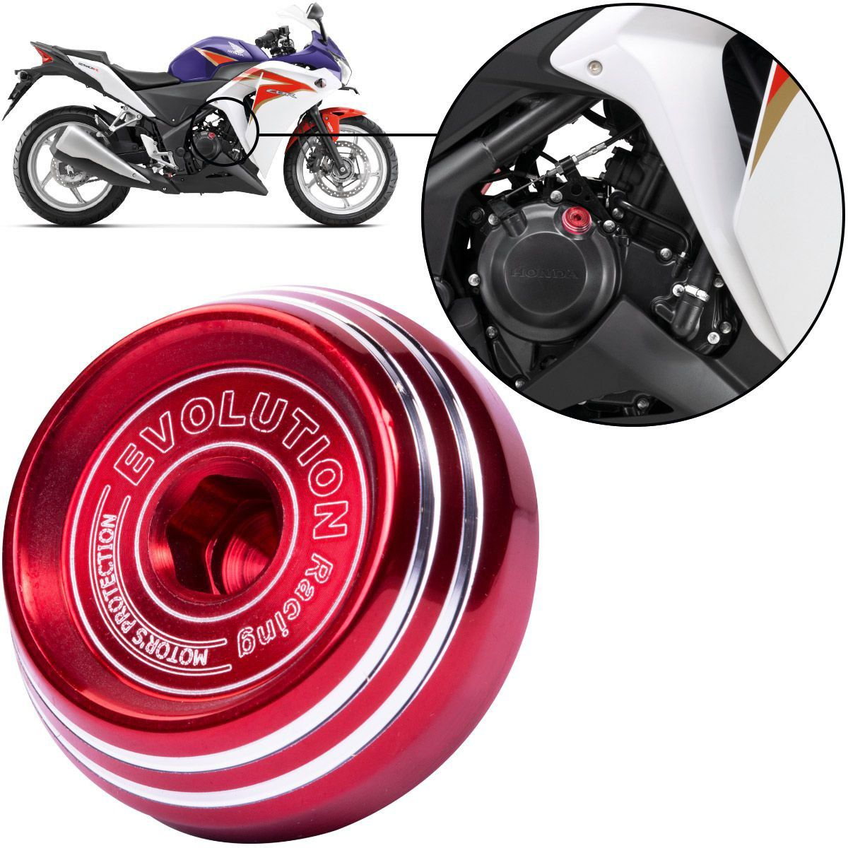 Tampa de Óleo Evolution Esportiva Moto CBR250R CBR 250 R 2012