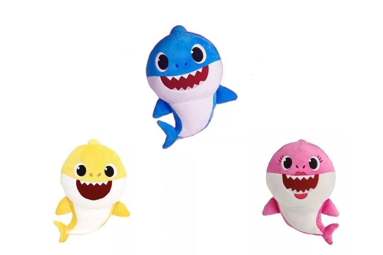 03 Pelúcias Baby Shark