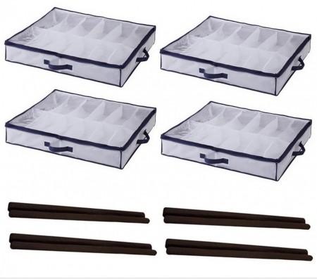 04 Sapateiras Dobráveis Semiflexível E 04 Rolinhos de Porta Anti-Sujeira