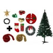 Árvore De Natal Decorada 1,50 Cm 250 Galhos Com 11 Itens